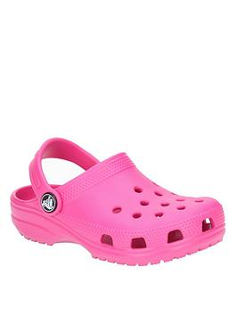 crocs-girls-classic-clog-slip-ons-pink