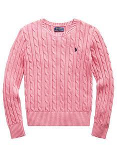 ralph-lauren-girls-classic-cable-knit-jumper-pink