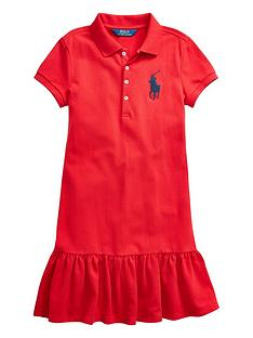 ralph-lauren-girls-classic-big-pony-polo-dress-red
