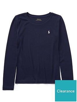 ralph-lauren-girls-classic-long-sleeve-t-shirt-navy