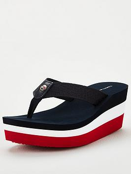 tommy-hilfiger-corporate-highwedge-beach-sandals-multi