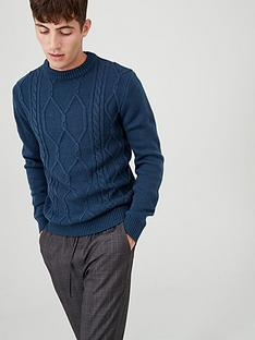 v-by-very-cable-knit-crew-jumper-blue