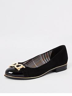 river-island-river-island-snaffle-detail-ballet-shoe-black