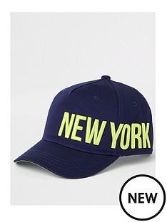 river-island-boys-new-york-cap-navy