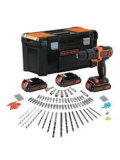 black-decker-18v-combi-hammer-drill-and-3-batteries