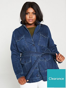 v-by-very-curve-belted-utility-denim-blazer-indigo