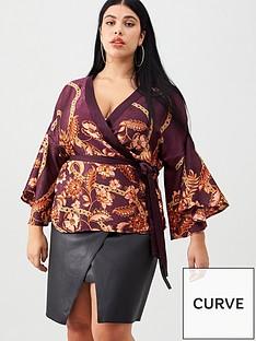 v-by-very-curve-printed-kimono-blouse-plum
