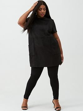 v-by-very-curve-suedette-tunic-black