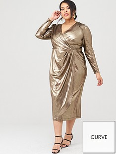 v-by-very-curve-metallic-wrap-midi-dress-gold