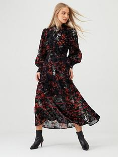 v-by-very-floral-devore-midaxi-dress-print