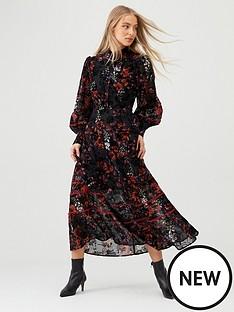 v-by-very-floral-devore-midaxi-dress-print