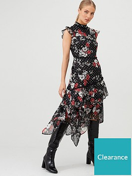 v-by-very-ruffled-dobby-hanky-hem-dress-blackfloral