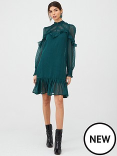 v-by-very-ruffle-dobby-high-neck-tunic