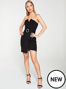 river-island-river-island-strapless-belted-mini-dress-black