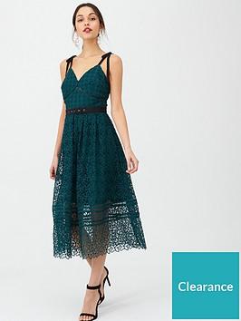 v-by-very-polka-lace-midi-dress-green
