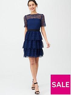 v-by-very-layered-short-sleeve-skater-dress-blue