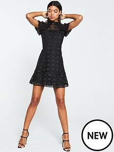 v-by-very-lace-frill-skater-dress-black