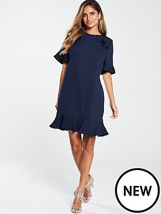 v-by-very-ruffle-detail-formal-tunic-dress