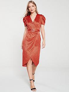 river-island-river-island-printed-midi-tea-dress-red