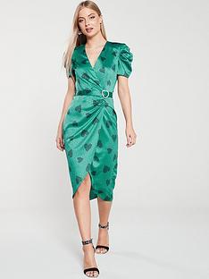 river-island-river-island-printed-midi-tea-dress-green