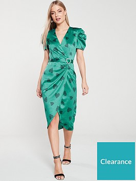 river-island-river-island-printed-midi-tea-dress-green