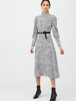 v-by-very-high-neck-blouson-sleeve-midaxi-dress-print