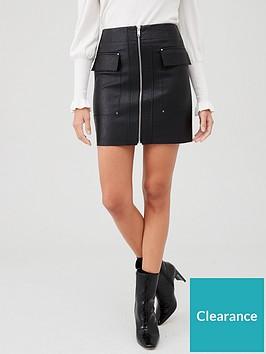 river-island-river-island-faux-leather-mini-skirt-black