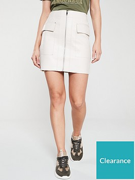 river-island-river-island-faux-leather-mini-skirt-stone
