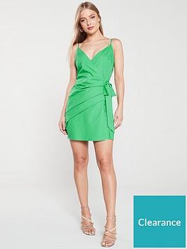 river-island-tie-side-dress-green