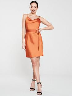 river-island-slip-mini-dress-rust