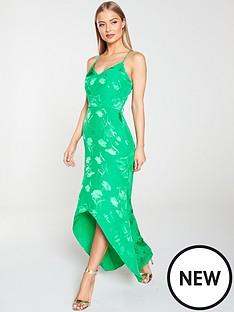 836f3cbcbf54 River Island River Island Embroidered Midi Slip Dress - Green