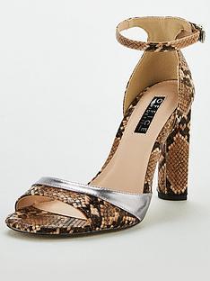 office-hila-wide-fit-heeled-sandals-snake