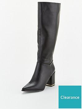 office-klever-knee-high-boot-black