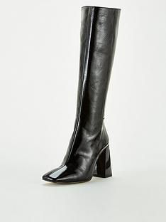 office-koyote-knee-high-boots-black