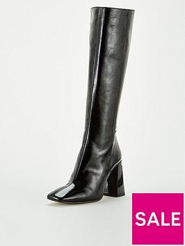 office-koyote-knee-high-boots-black