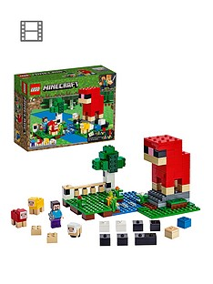 lego-minecraft-21153-the-wool-farm-with-steve-and-sheep-figures