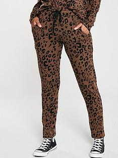 v-by-very-animal-print-slim-leg-snit-joggers-co-ord-brown