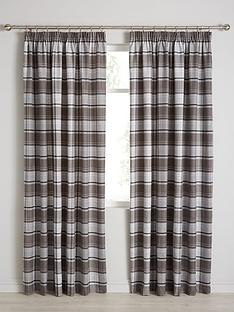 shetland-check-faux-wool-pleated-curtains