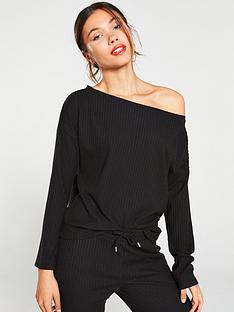 v-by-very-ribbed-snit-slouch-co-ord-top-black