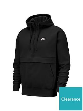 nike-sportswear-club-fleece-half-zip-hoodie-black