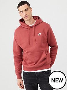 nike-sportswear-club-fleece-overhead-hoodie-red