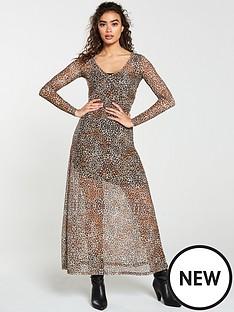 v-by-very-leopard-v-neck-mesh-maxi-dress-animal-print
