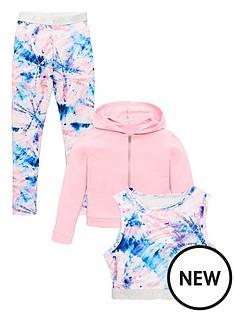 v-by-very-girls-3-piece-tie-dye-crop-top-hoodie-and-leggings-outfit-pink