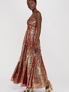 monsoon-odeya-animal-foil-print-maxi-dress-red