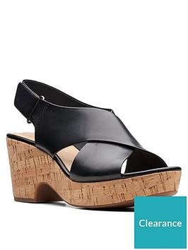 clarks-maritsa-lara-leather-chunky-heeled-sandals-black
