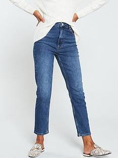 warehouse-slim-cut-jeans-mid-wash