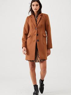warehouse-single-breasted-smart-coat-camel