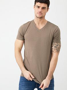 v-by-very-essential-v-neck-t-shirt-pine-bark