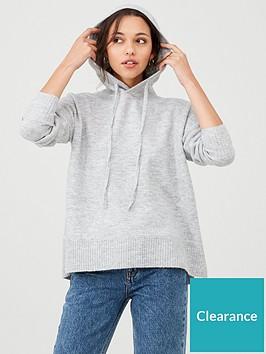 warehouse-cosy-hoodienbspjumper-grey