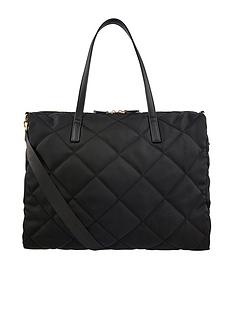 accessorize-harri-quilted-weekender-bag-black